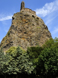Saint Michel D'Aiguilhe Chapel Situated on the Top of Volcanic Rock  Le Puy En Velay  Haute-Loire