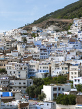 View of the City  Chefchaouen (Chaouen)  Tangeri-Tetouan Region  Rif Mountains  Morocco  North Afri