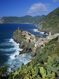 View over Village on the Riviera Di Levante  Vernazza  Cinque Terre  UNESCO World Heritage Site  Li