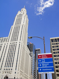 Leveque Tower and Road Signs  Columbus  Ohio  United States of America  North America