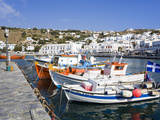 Fishing Boats in Mykonos Town  Island of Mykonos  Cyclades  Greek Islands  Greece  Europe