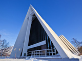 The Arctic Cathedral  Polar Church  Tromso  Troms  North Norway  Scandinavia  Europe