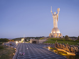 Motherland Statue (Rodina Mat) and the National War Museum  Kiev  Ukraine  Europe