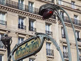 Traditional Parisian Metro Sign  Paris  France  Europe