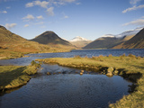 Wastwater  Yewbarrow  Great Gable and Scafell Pike in the Distance  Wasdale  Lake District National