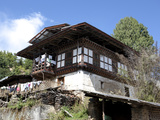 Traditional Bhutanese House in the Bumthang Valley  Bhutan  Asia