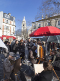 Artists and Tourists in the Place Du Tertre  Montmartre  Paris  France  Europe