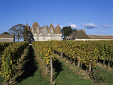 Chateau De Monbazillac and Vineyard Near Bergerac  Dordogne  Aquitaine  France  Europe