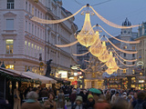 Christmas Decoration at Graben  Vienna  Austria  Europe