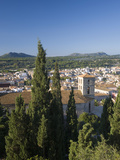 View over Town from the Sanctuary of Sant Salvador with the Tower of the Parish Church Prominent  A
