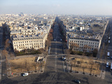Avenue De Wagram from the Top of the Arc De Triomphe  Paris  France  Europe