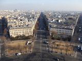 Avenue De Wagram from the Top of the Arc De Triomphe  Paris  France  Europe
