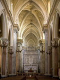 Interior of the Duomo  Erice  Sicily  Italy  Europe