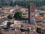 View of the Cathedral  Lucca  Tuscany  Italy  Europe