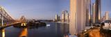 Story Bridge  Kangaroo Point  Brisbane River and City Centre at Dawn  Brisbane  Queensland  Austral