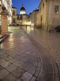 Dome of Cathedral Illuminated at Dusk  Old Town  UNESCO World Heritage Site  Dubrovnik  Croatia  Eu