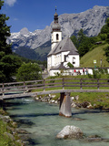 Church in Ramsau  Berchtesgadener Land  Bavaria  Germany  Europe