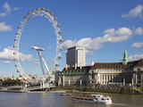 London Eye  River Thames  London  England  United Kingdom  Europe