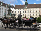 Horse-Drawn Carriage at the Hofburg  Vienna  Austria  Europe