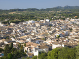 View over Town from the Sanctuary of Sant Salvador  Arta  Mallorca  Balearic Islands  Spain  Europe