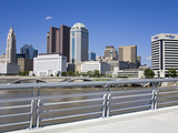City Skyline and Scioto River  Columbus  Ohio  United States of America  North America