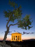 Tempio Di Concordia (Concord) and Almond Tree at Dusk  Valle Dei Templi  UNESCO World Heritage Site
