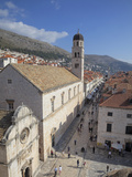 Franciscan Monastery  Stradun and Rooftops from Dubrovnik Old Town Walls  UNESCO World Heritage Sit