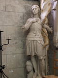Statue of St Joan of Arc  Dol Cathedral  Dol De Bretagne  Brittany  France  Europe