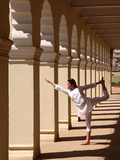 Yoga Inside the Courtyard of Mysore Palace  Karnataka  India  Asia