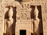 Detail of the Temple of Abu Simbel  UNESCO World Heritage Site  Lake Nasser  Egypt  North Africa  A