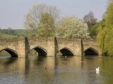 Bakewell Bridge and River Wye  Derbyshire  England  United Kingdom  Europe