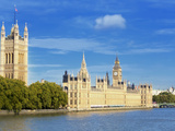 Big Ben  Houses of Parliament  and River Thames  Westminster  UNESCO World Heritage Site  London  E