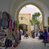Souvenir Stalls Inside Shopping and Restaurant Complex  the Medina  Yasmine Hammamet  Cap Bon  Tuni