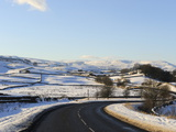 Snow Covered Winter Landscape  Wensleydale  Yorkshire Dales National Park  North Yorkshire  England