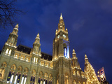 Christkindlmarkt at City Hall  Vienna  Austria  Europe
