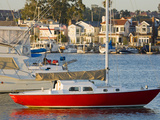 Boats in Newport Channel Near Balboa  Newport Beach  Orange County  California  United States of Am