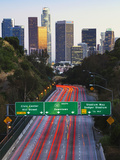 Pasadena Freeway (Ca Highway 110) Leading to Downtown Los Angeles  California  United States of Ame