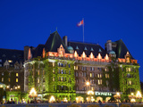 The Empress Hotel at Night  Victoria  Vancouver Island  British Columbia  Canada  North America