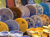 Pottery Products in Market at Houmt Souk  Island of Jerba  Tunisia  North Africa  Africa