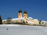 Abbey Church St Margen in Winter  Black Forest  Baden-Wurttemberg  Germany  Europe