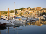 View across the Harbour at Sunrise  Port De Soller  Mallorca  Balearic Islands  Spain  Mediterranea