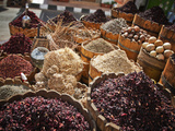 Display of Spices and Herbs in Market  Sharm El Sheikh  Egypt  North Africa  Africa