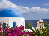 Greek Orthodox Church in Oia Village  Santorini Island  Cyclades  Greek Islands  Greece  Europe
