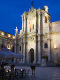 The Duomo at Dusk  Piazza Del Duomo  Siracusa  Sicily  Italy  Europe