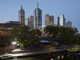 City Centre and Yarra River  Melbourne  Victoria  Australia  Pacific
