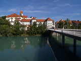 Fussen  River Lech and Castle  Allgau  Bavaria  Germany  Europe