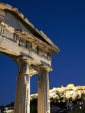 Gate of Athena Archegetis and the Acropolis at Night  UNESCO World Heritage Site  Athens  Greece  E