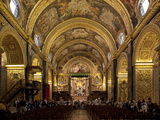 Interior of St John's Cocathedral  Valletta  Malta  Europe
