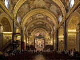 Interior of St John's Cocathedral  Valletta  Malta  Europe