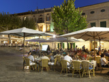 Restaurants in the Plaza Mayor  Pollenca (Pollensa)  Mallorca (Majorca)  Balearic Islands  Spain  M